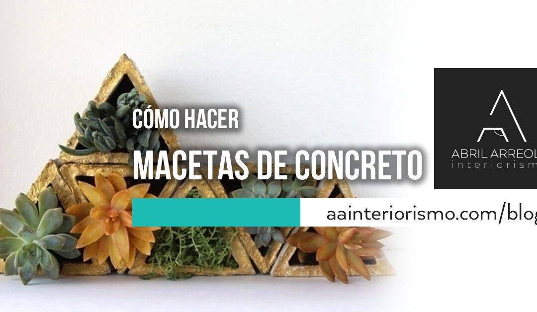 Cómo hacer macetas de concreto