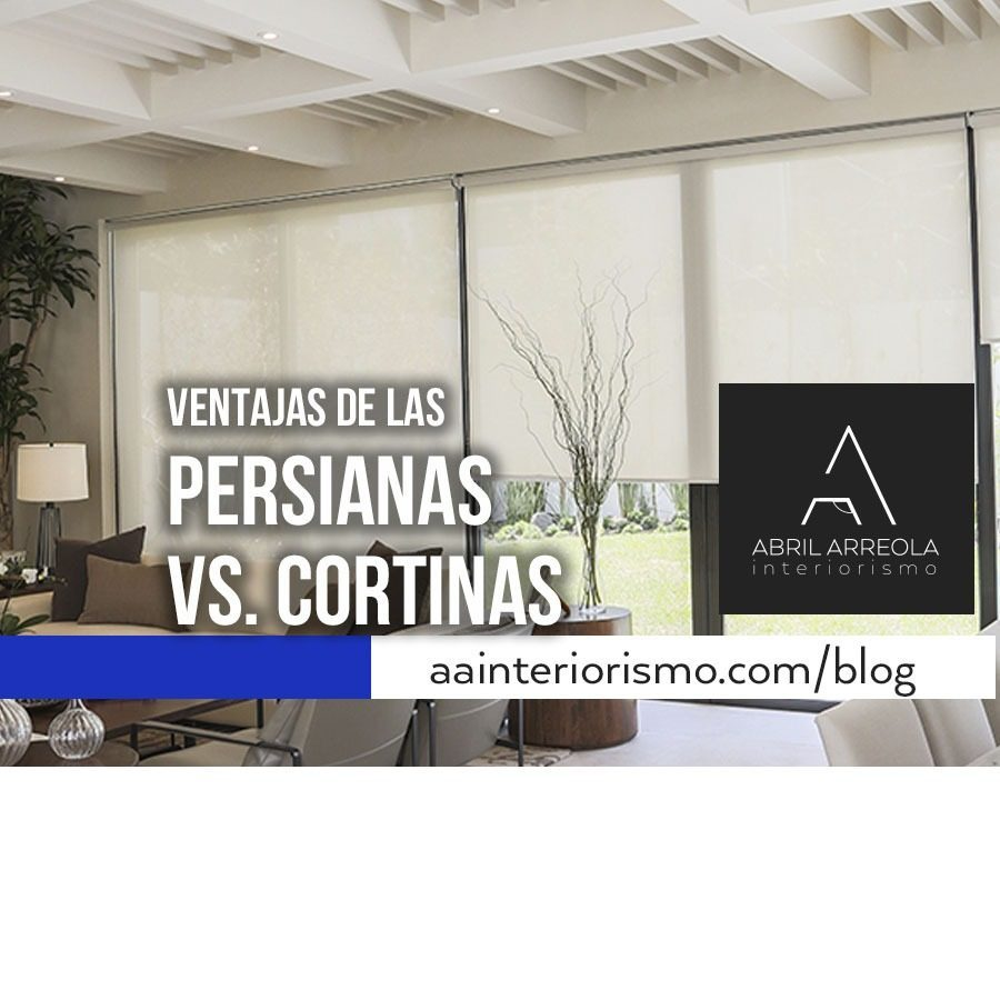 Persianas vs cortinas
