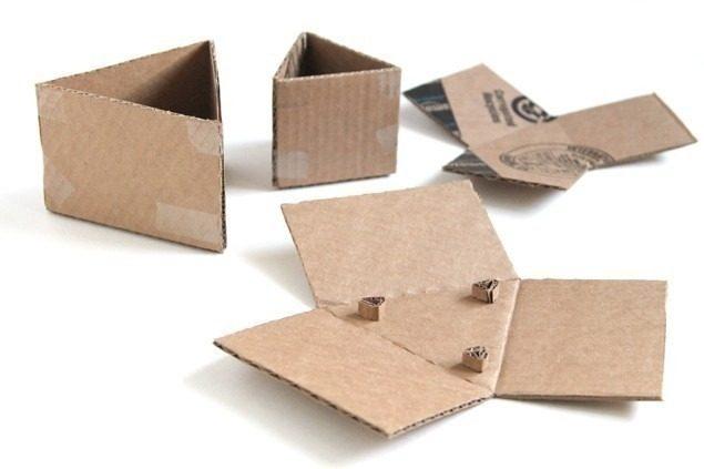 macetas modulares - con suculentas - cartón