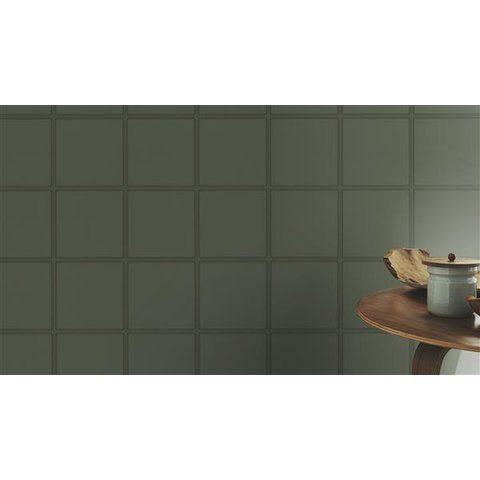 Pared decorada con papel tapiz para pared color gris