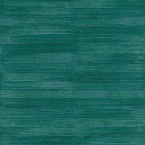 Cuarto decorado con papel tapiz para pared color verde aqua